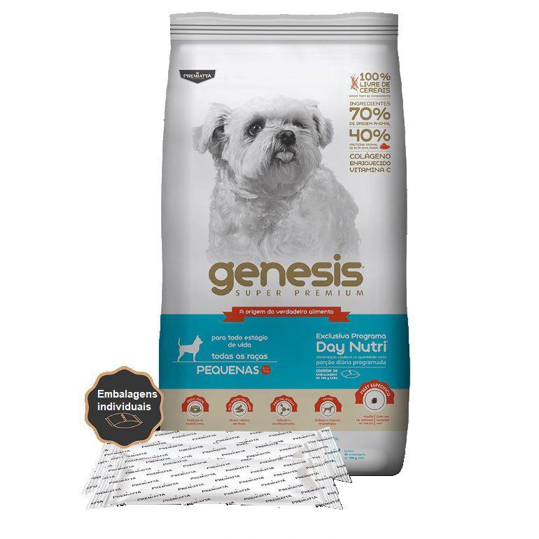 Ração Gênesis Super Premium para Cães Adultos e Filhotes de Porte Pequeno - Gran Premiatta (3 kg = 30x100g)