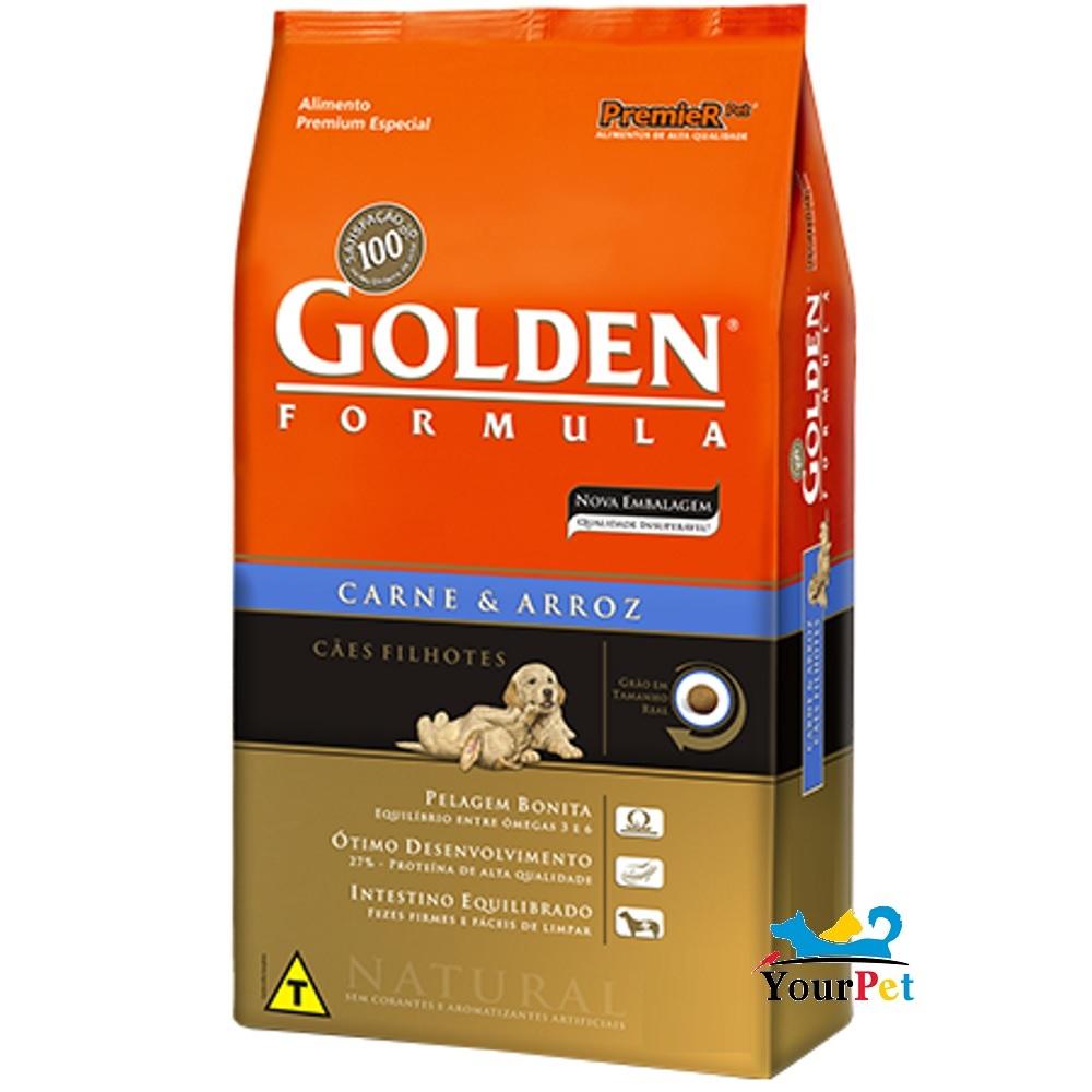 Ração Golden Fórmula Filhotes Carne e Arroz para Cães - PremieR (15 kg)