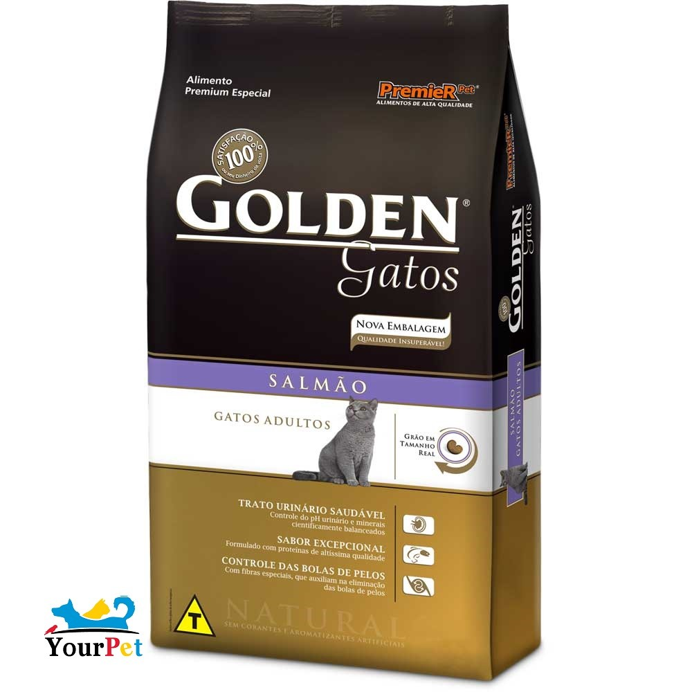 Ração Golden Salmão para Gatos Adultos - PremieR (3 kg)