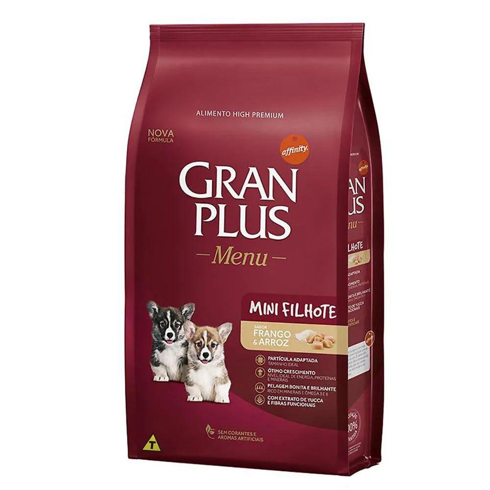 Ração Gran Plus Cães Filhotes Miniaturas e Pequenos Frango e Arroz (10,1 kg) - Affinity Guabi
