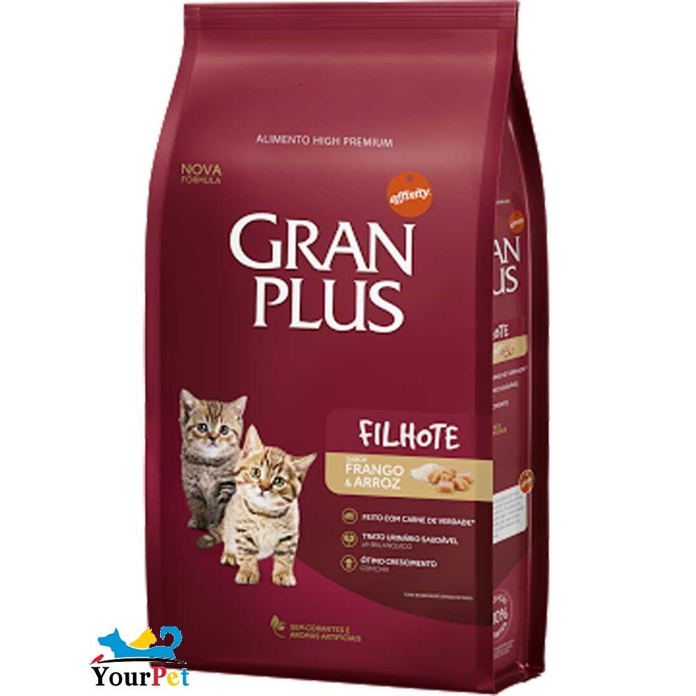 Ração Gran Plus Frango e Arroz para Gatos Filhotes (3 kg) - Guabi