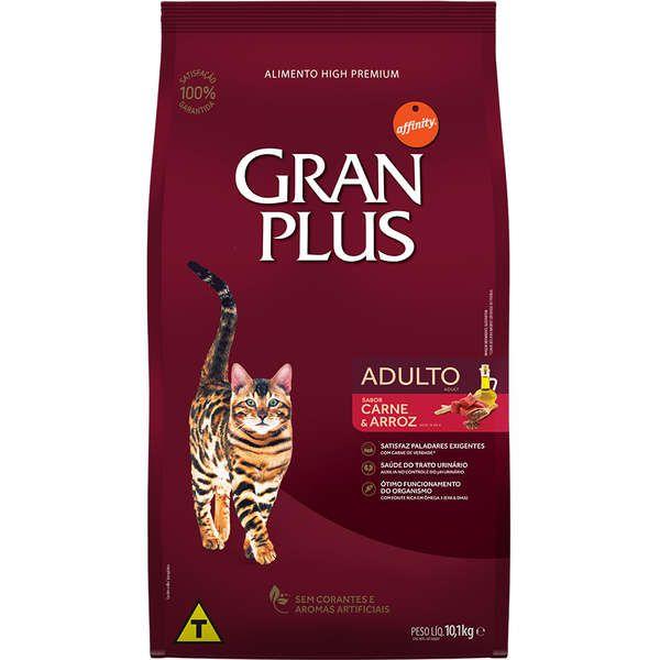 Ração Gran Plus Gatos Adultos Carne e Arroz (10,1 kg) - Affinity Guabi
