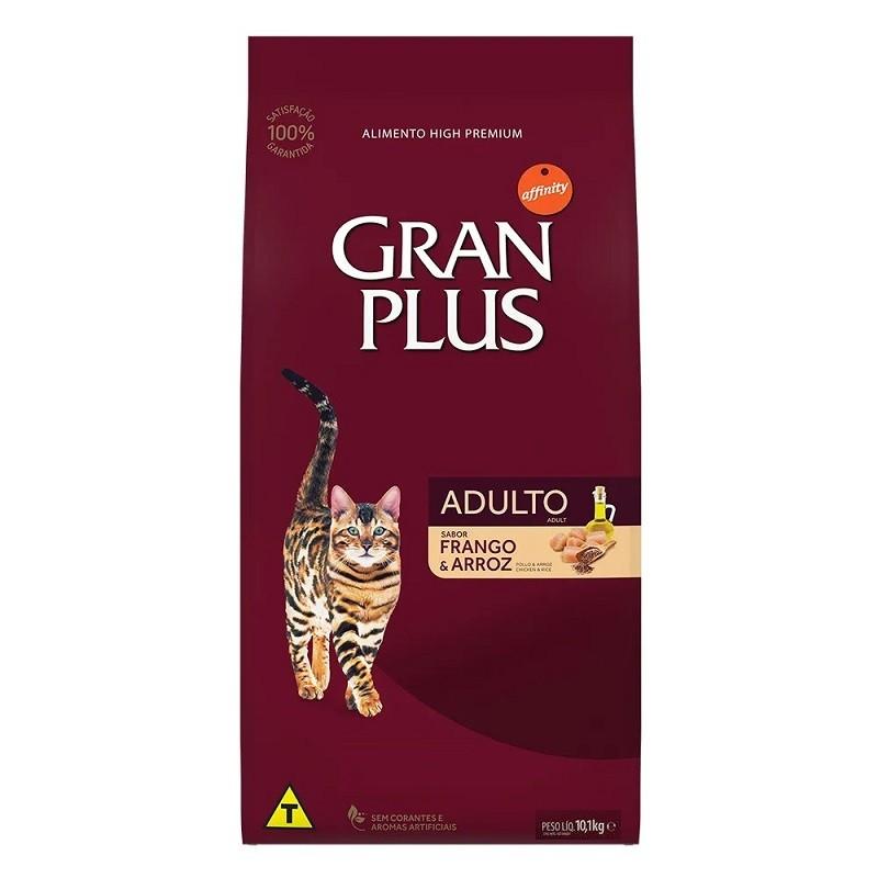 Ração Gran Plus Gatos Adultos Frango e Arroz (10,1kg) - Affinity Guabi