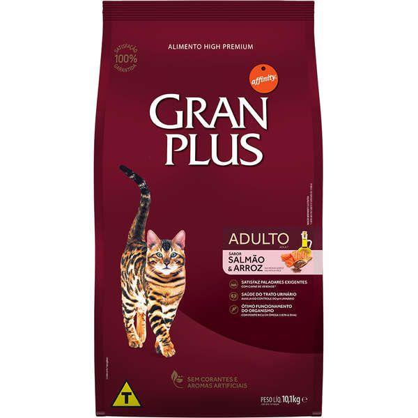 Ração Gran Plus Gatos Adultos Salmão e Arroz (10,1 kg) - Affinity Guabi
