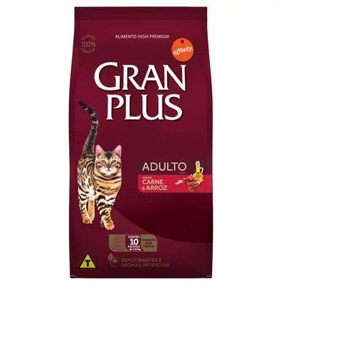 Ração Gran Plus Gatos Carne e Arroz para Gatos Adultos (10,1 kg) - Guabi