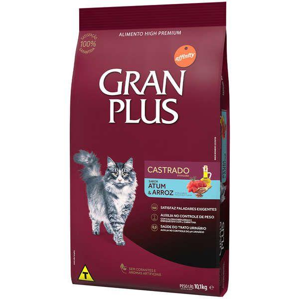Ração Gran Plus Gatos Castrados Atum (10,1 kg) - Affinity Guabi