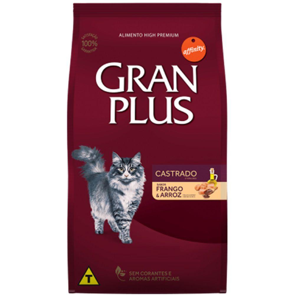 Ração Gran Plus Gatos Castrados Frango e Arroz (10,1 +1kg) - Affinity Guabi