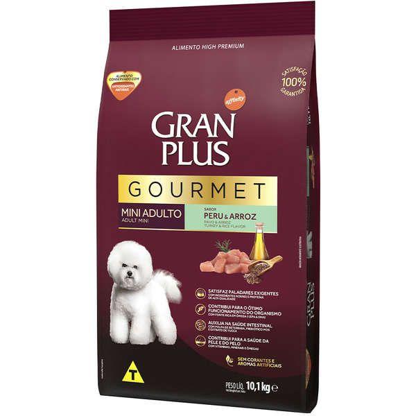 Ração Gran Plus Gourmet Cães Adultos Miniaturas e Pequenos Peru e Arroz (10,1kg) - Affinity Guabi