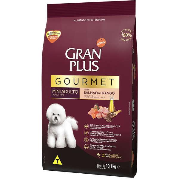 Ração Gran Plus Gourmet Cães Adultos Miniaturas e Pequenos Salmão e Frango (10,1 kg) - Affinity Guabi