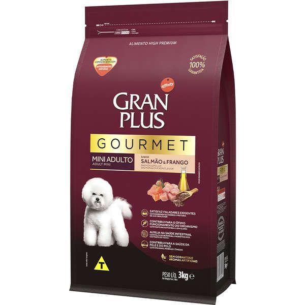 Ração Gran Plus Gourmet Cães Adultos Miniaturas e Pequenos Salmão e Frango (3 kg) - Affinity Guabi