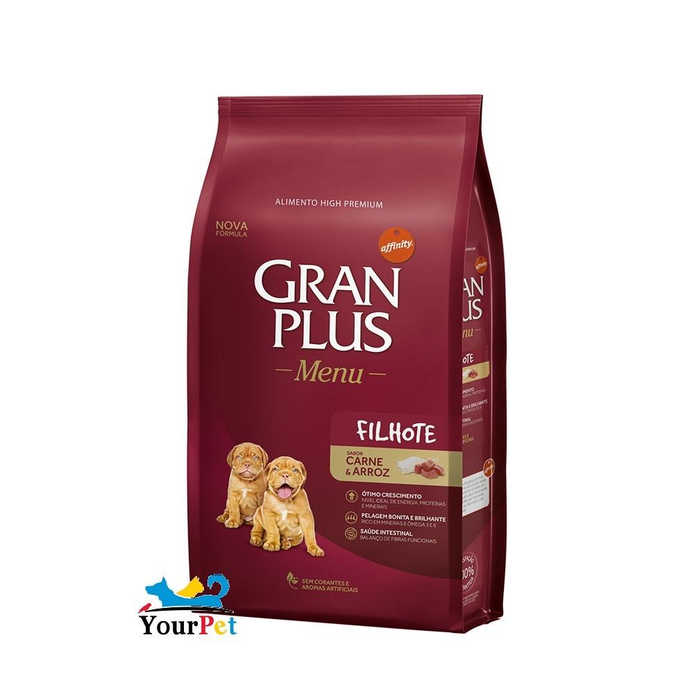 Ração Gran Plus Menu Carne e Arroz para Cães Filhotes (15 kg) - Guabi