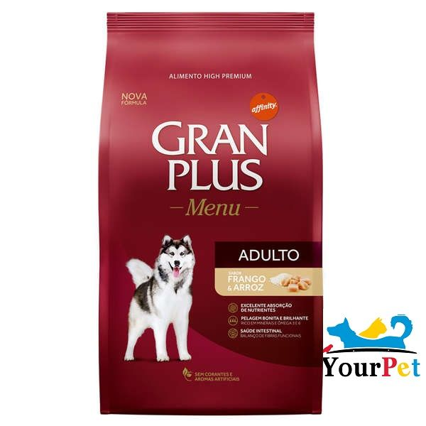 Ração Gran Plus Menu Frango e Arroz para Cães Adultos (15 kg)