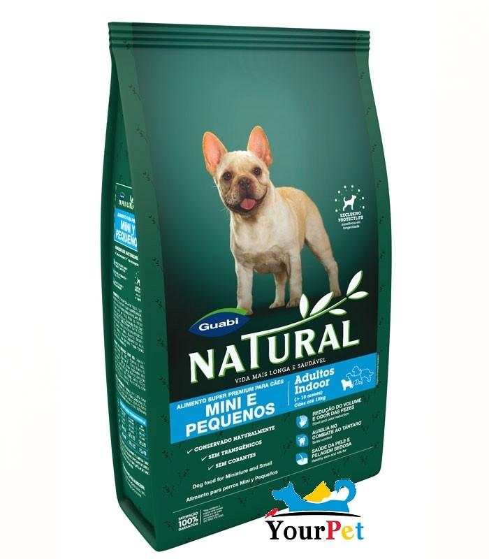 Ração Guabi Natural Adultos Indoor para Cães Adultos Mini e Pequenos (1 kg)