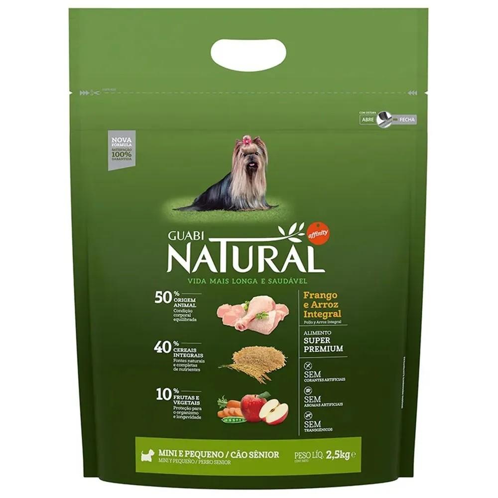 Ração Guabi Natural Cães Senior Miniaturas e Pequenos Frango e Arroz Integral (2,5 kg) - Affinity Guabi