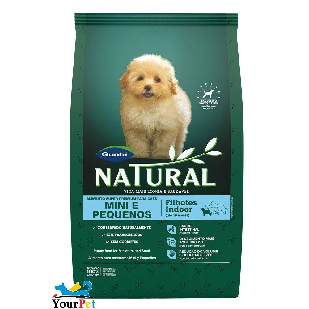 Ração Guabi Natural Filhotes Indoor para Cães de até 10 meses Mini e Pequenos (1 kg)