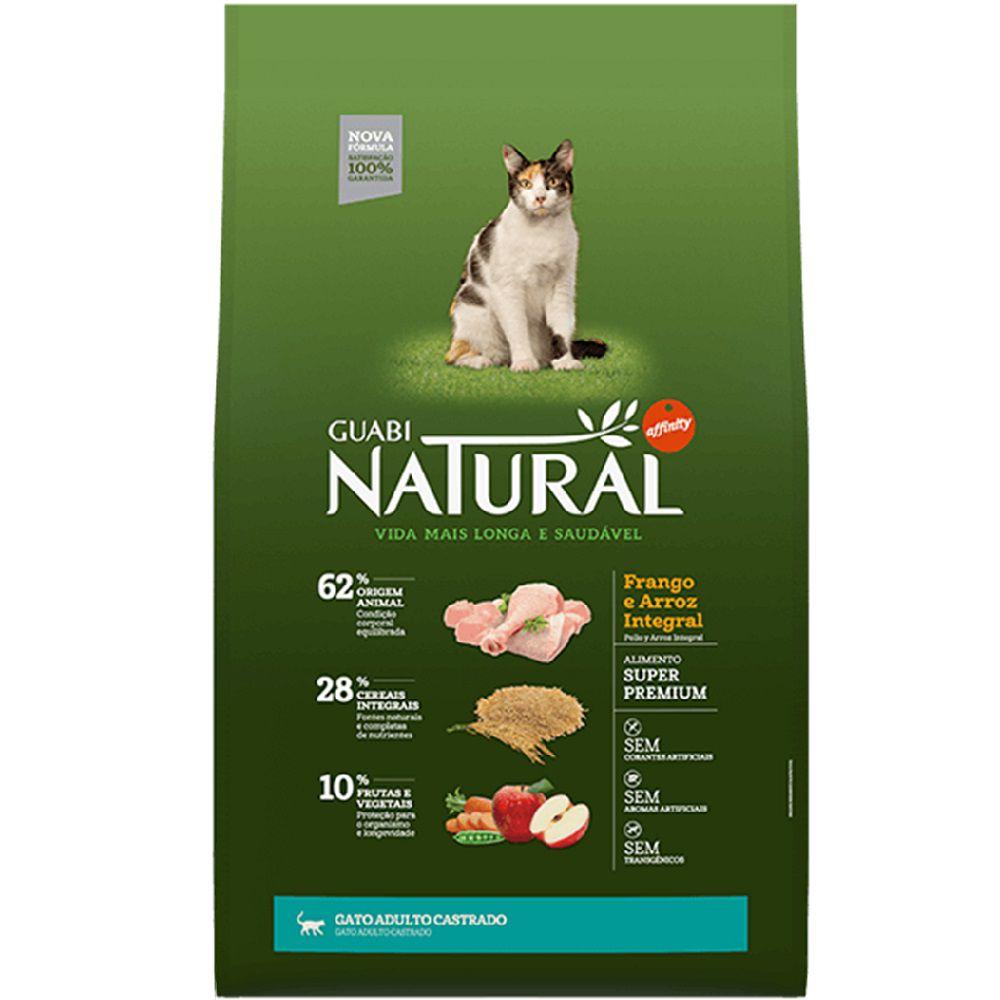 Ração Guabi Natural Gato Castr Frango Arroz Integral 7,5kg