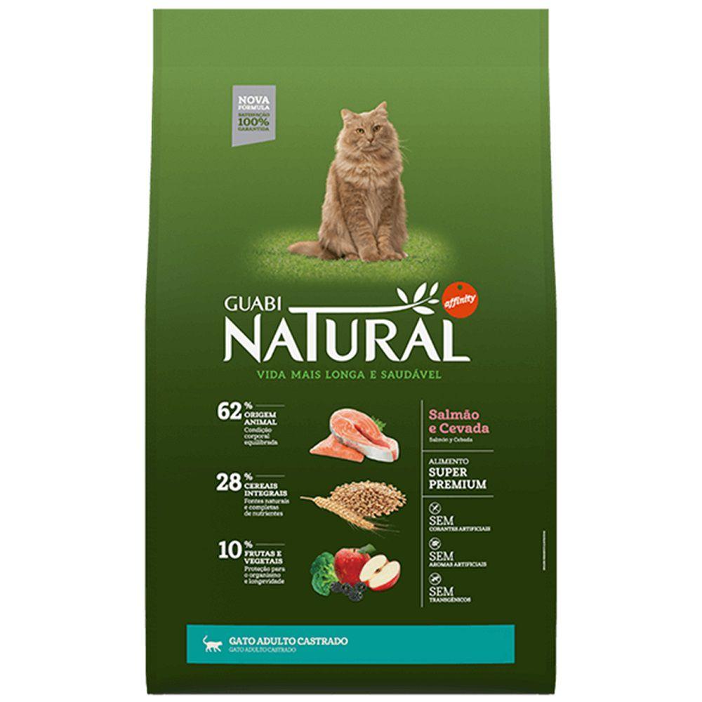 Ração Guabi Natural Gatos Castrados Salmão e Cevada (7,5 kg)