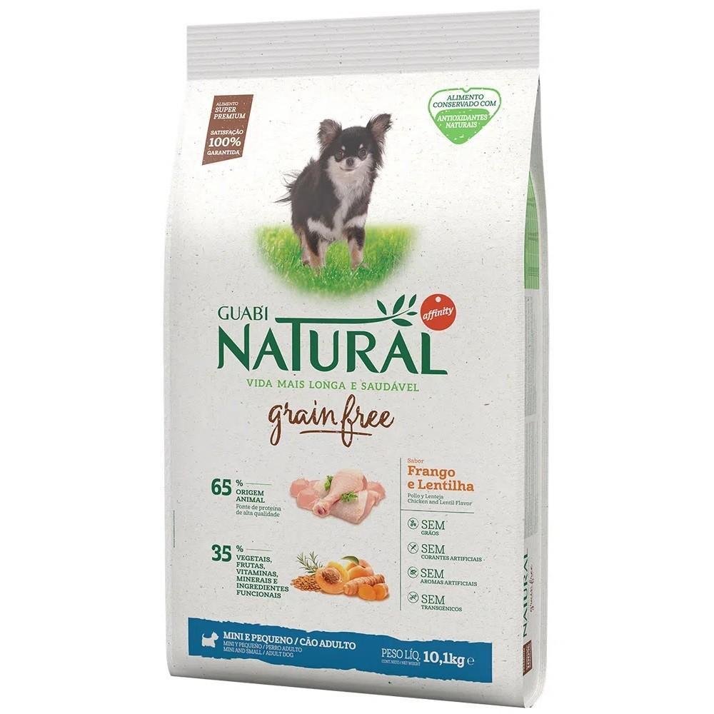Ração Guabi Natural Grain Free Cães Adultos Miniaturas e Pequenos Frango e Lentilha (10,1 kg) - Affinity Guabi