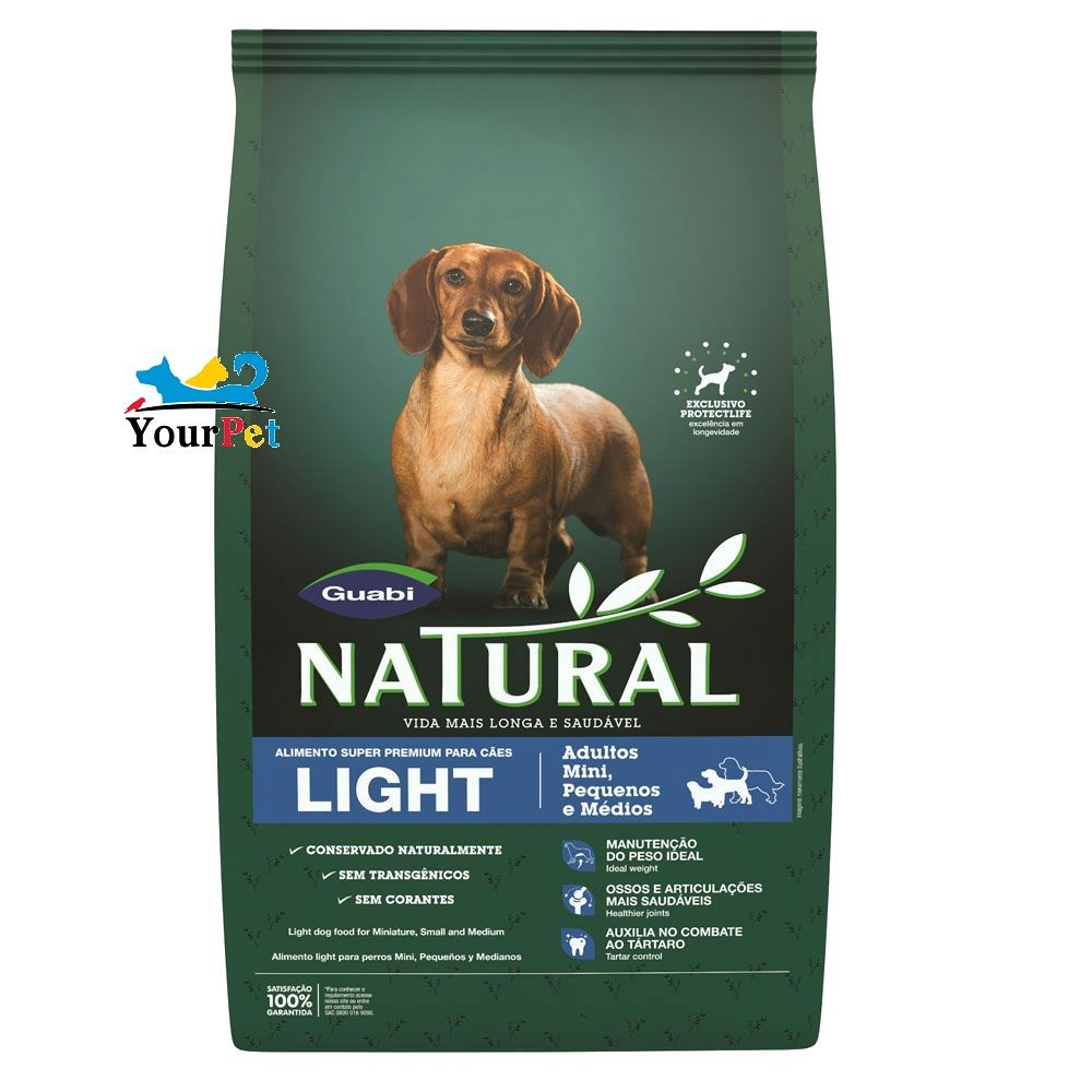 Ração Guabi Natural Light para Cães de Porte Mini, Pequeno e Médio (2,5 kg)
