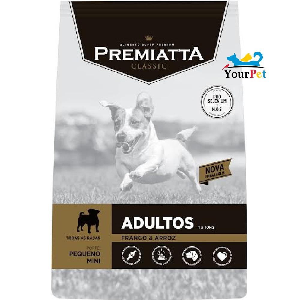 Ração Premiatta Classic Mini Bits para Cães Adultos de Raças Miniaturas e Pequenas (2 kg)