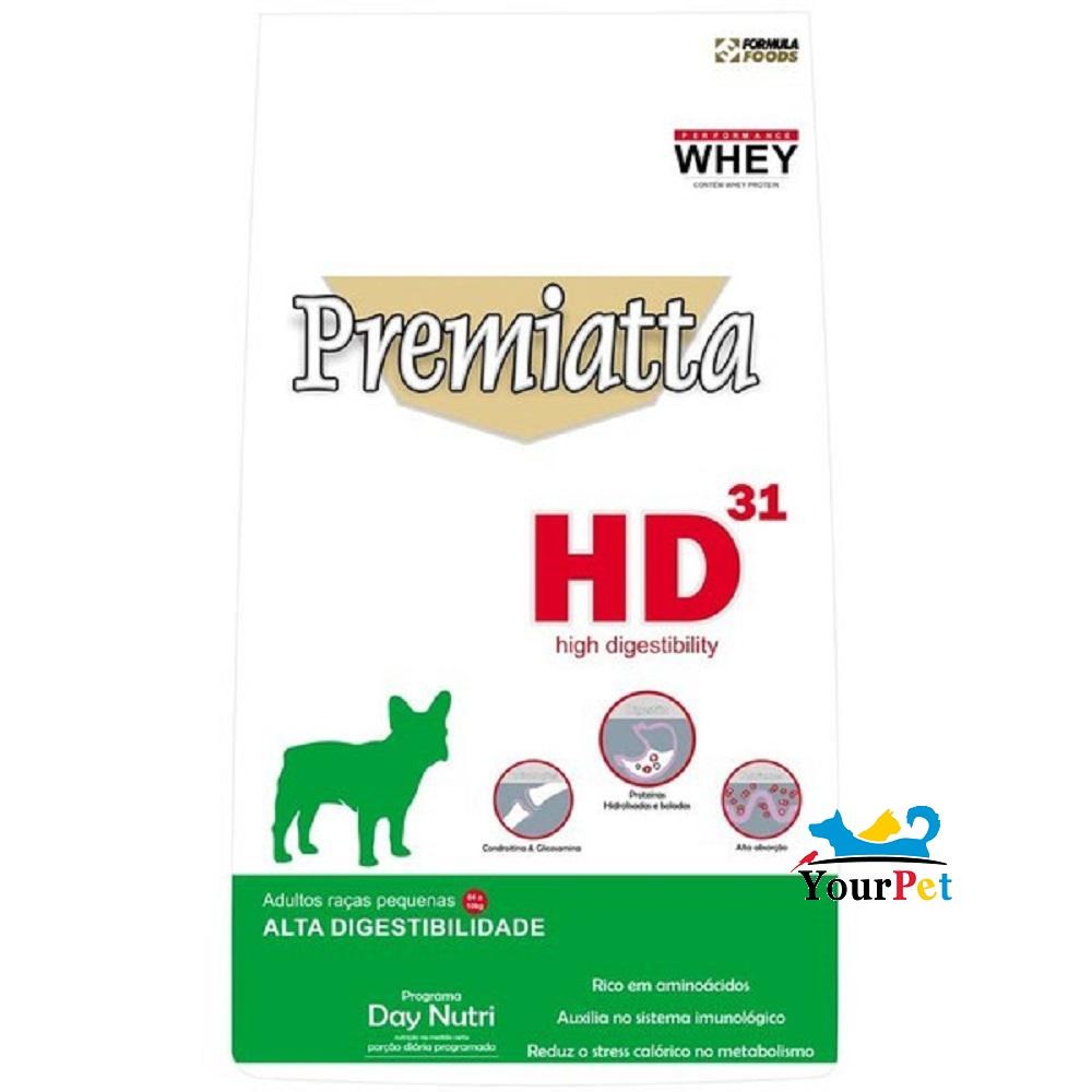 Ração Premiatta HD 31 Raças Pequenas para Cães Adultos (3 kg)