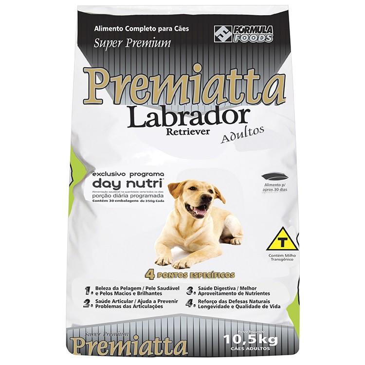 Ração Premiatta Raças Específicas Labrador para Cães Adultos (10,5 Kg = 30 x 350g cada)