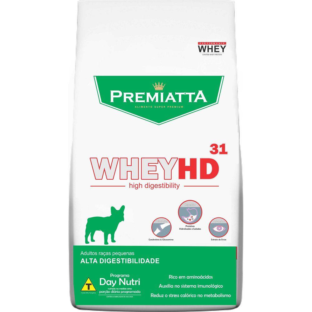 Ração Premiatta Whey HD 31 para Cães Adultos de Raças Pequenas para Cães Adultos (6 kg=30x200g)