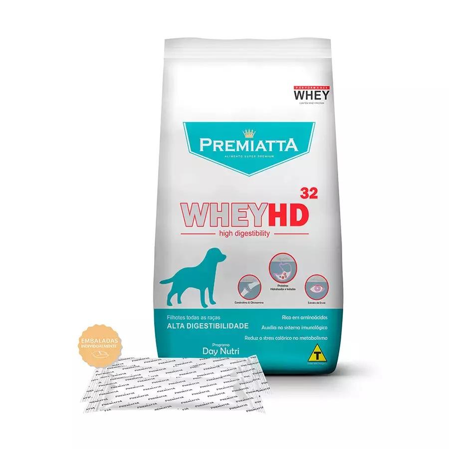 Ração Premiatta Whey HD 32 para Cães Filhotes de Todas as Raças Lágrima Ácida - Gran Premiatta
