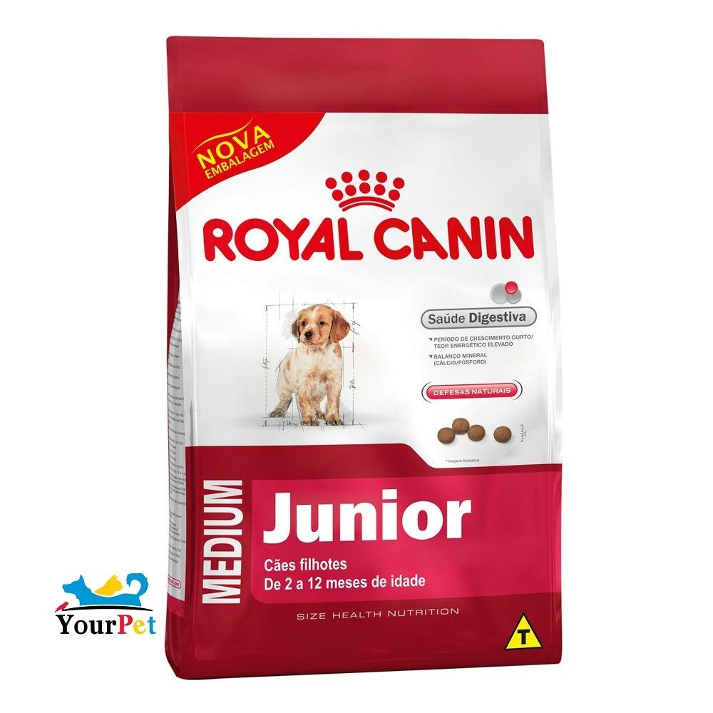 Ração Royal Canin Medium Junior para Cães Filhotes de Porte Médio (15 kg)
