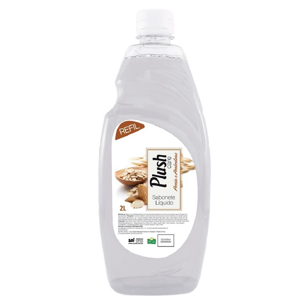 Sabonete Liquido Plush Care Aveia e Amendoas  (2 litros) Total Química