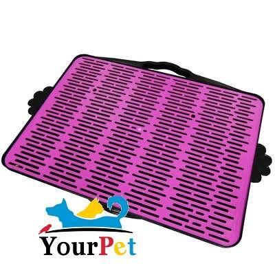 Sanitário Dog Toalete com Grade - Furacão Pet (Rosa)
