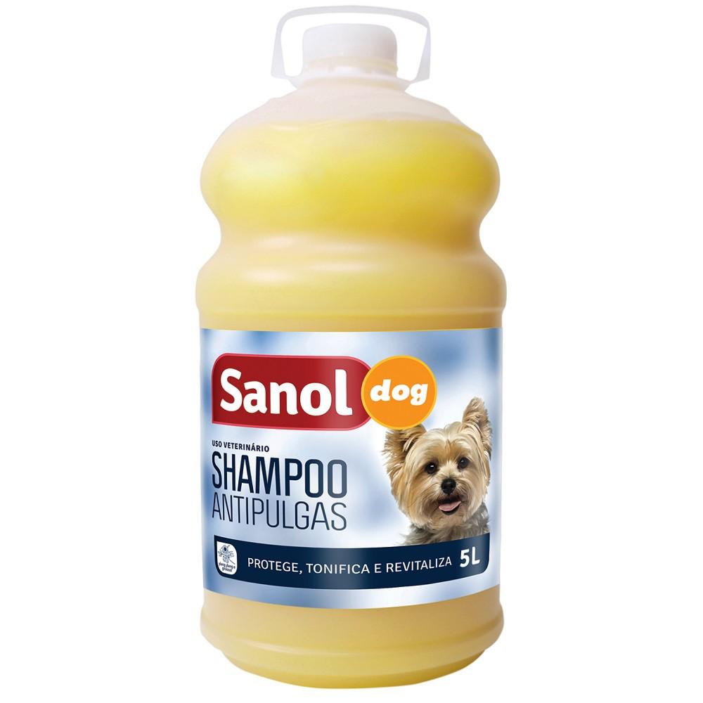 Shampoo Antipulgas Sanol Dog para Cães (5 litros) - Total Química