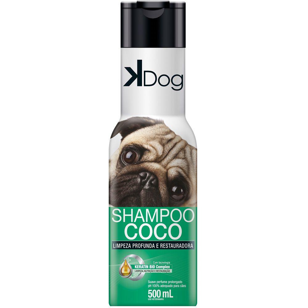 Shampoo Coco K Dog - Limpeza Profunda e Restauradora para Cães (500 ml) - Total Química