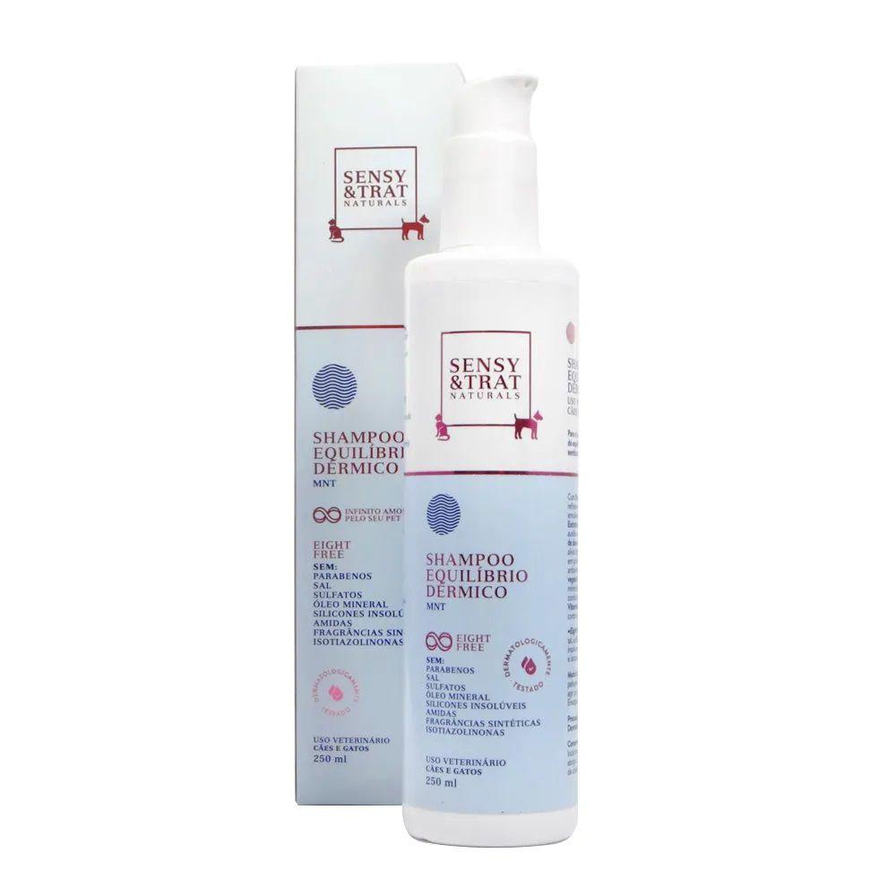 Shampoo Equilíbrio Dérmico Sensy & Trat - Para o banho e hidratação das peles xeróticas e atópicas Cães e Gatos (250 ml)