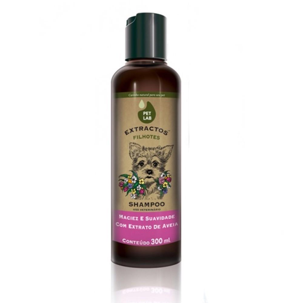 Shampoo Extractos Maciez e Suavidade com Extrato de Aveia para Cães Filhotes - Pet Lab (300ml)