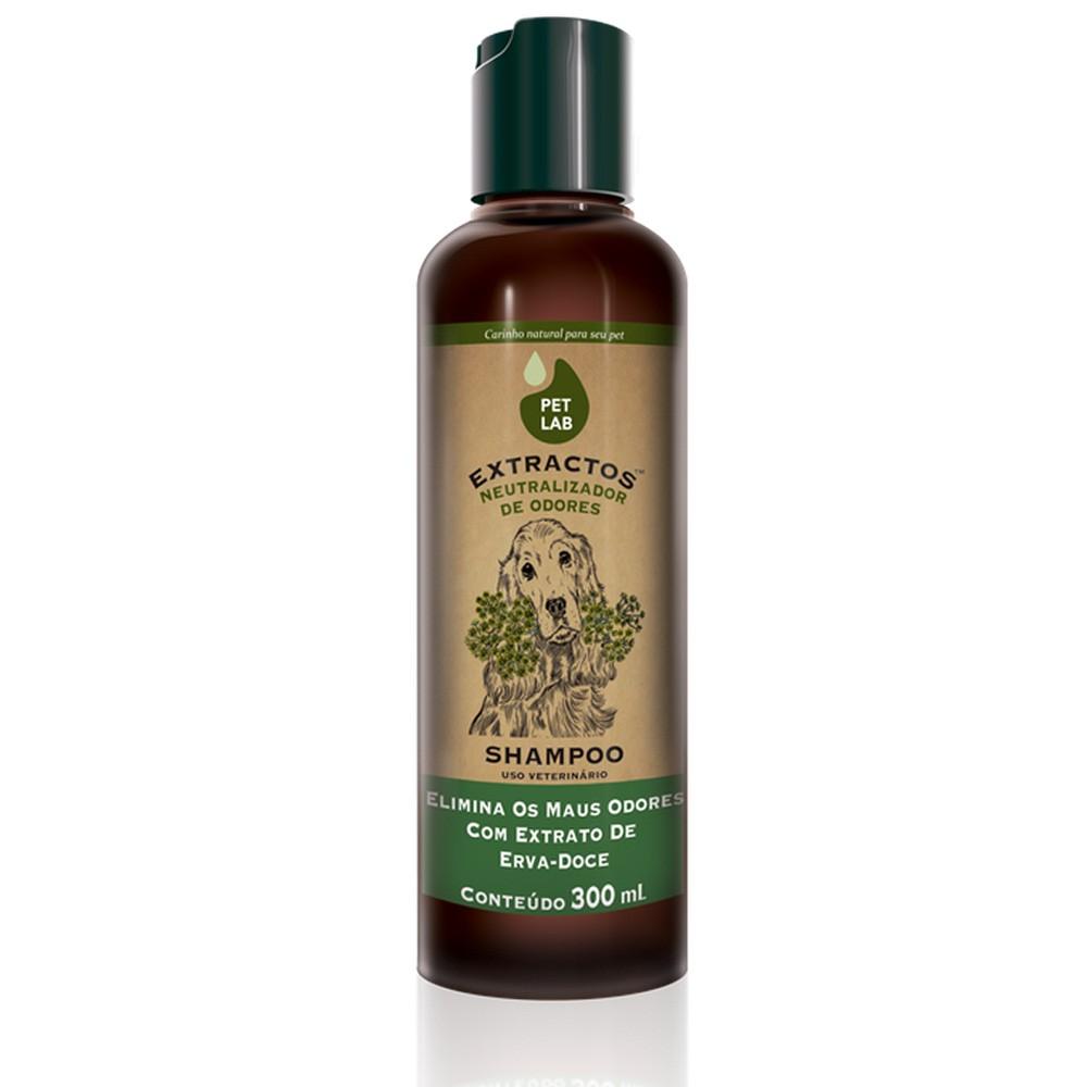 Shampoo Extractos Neutralizador de Odores com Extrato de Erva-Doce para Cães - Pet Lab (300ml)