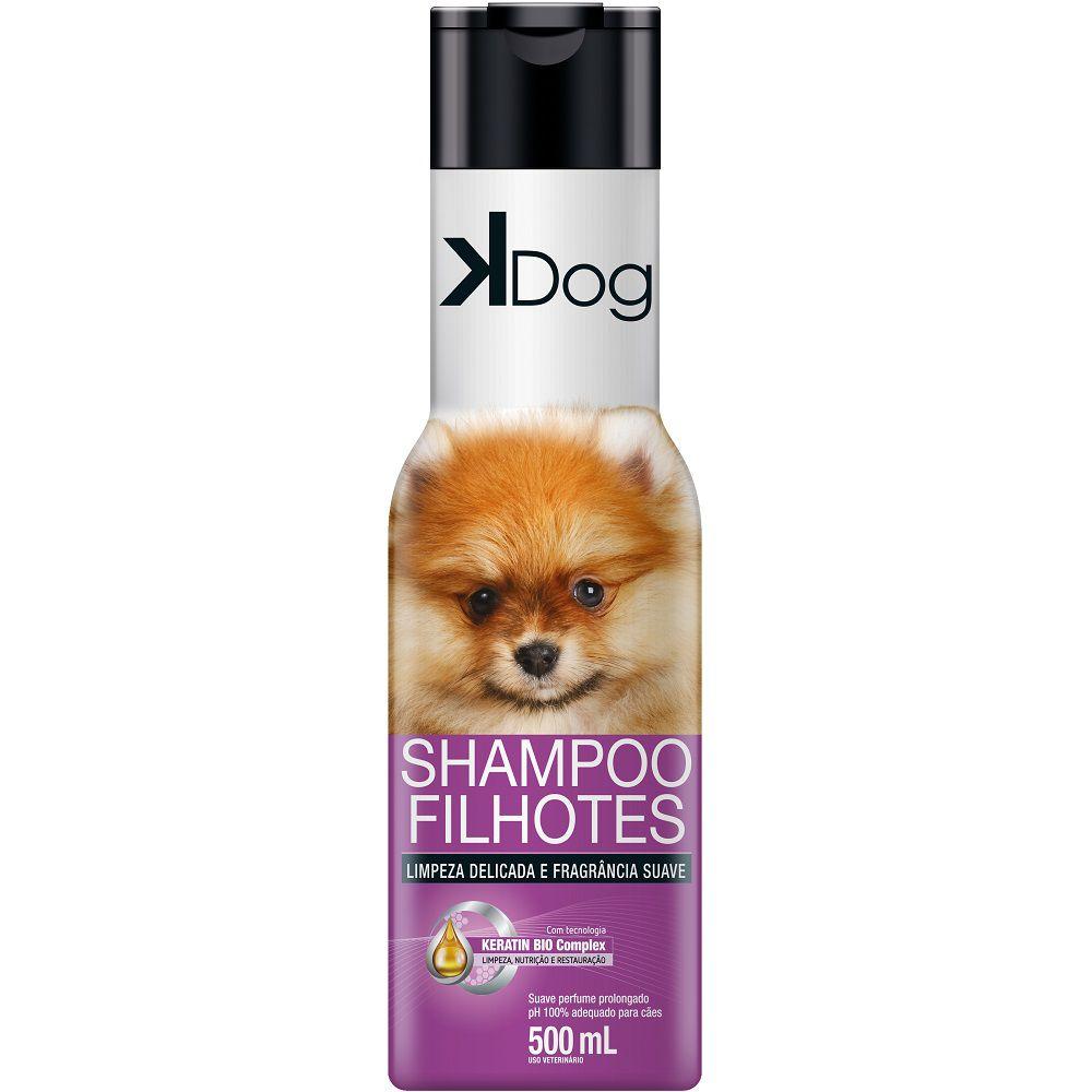 Shampoo Filhotes K Dog para Cães - Limpeza Delicada e Fragrância Suave (500 ml) - Total Química