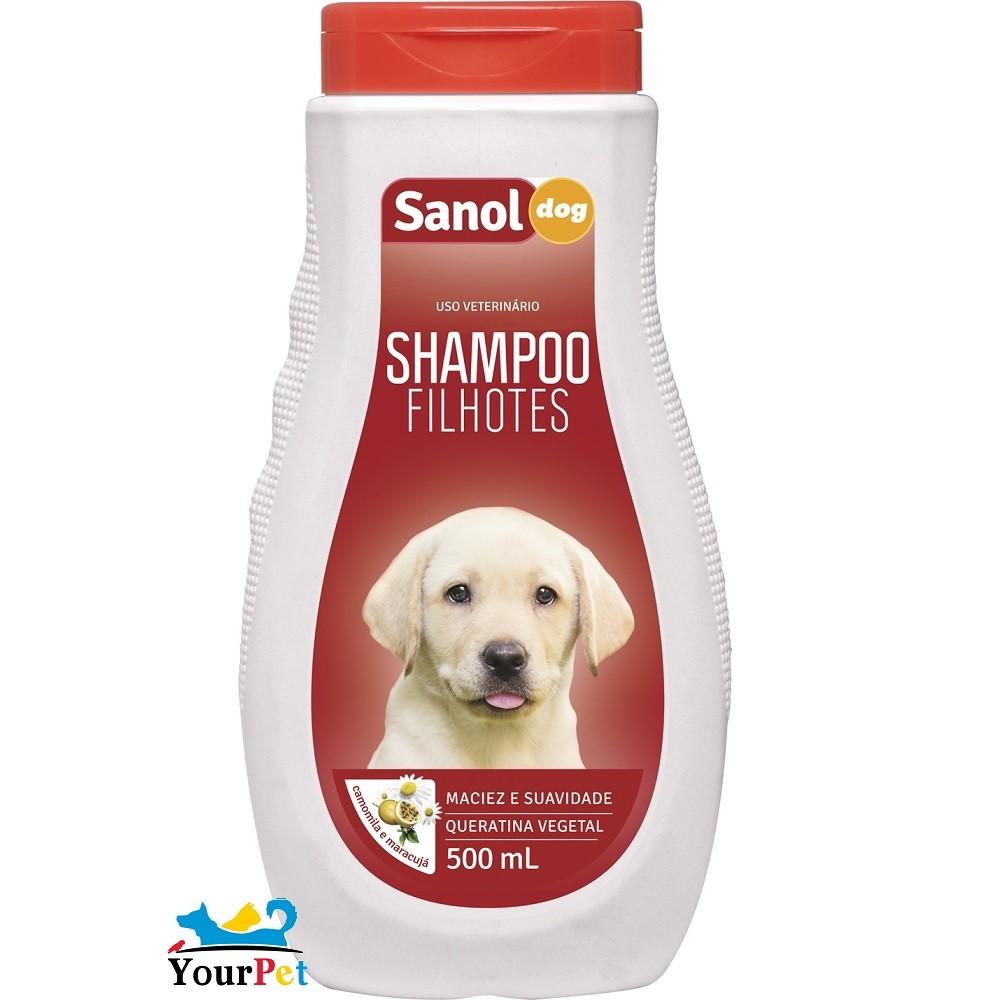 Shampoo Filhotes Sanol Dog para Cães e Gatos - Sanol (500 ml)