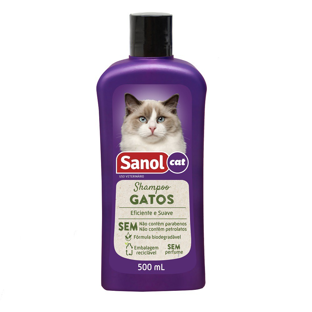 Shampoo Gatos Sanol Cat - Total Química (500 ml)