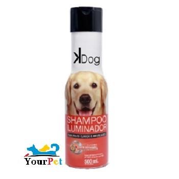 Shampoo Iluminador K Dog para Cães e Gatos de Pelos Claros e Amarelados - Total Química (500 ml)