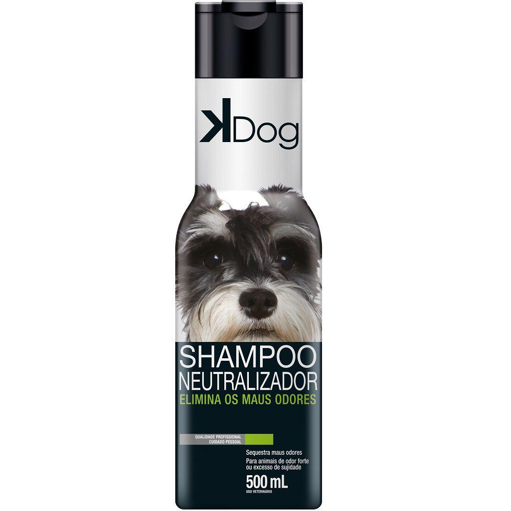 Shampoo Neutralizador de Odores K Dog - Elimina os Maus Odores em Cães e Gatos (500 ml) - Total Química