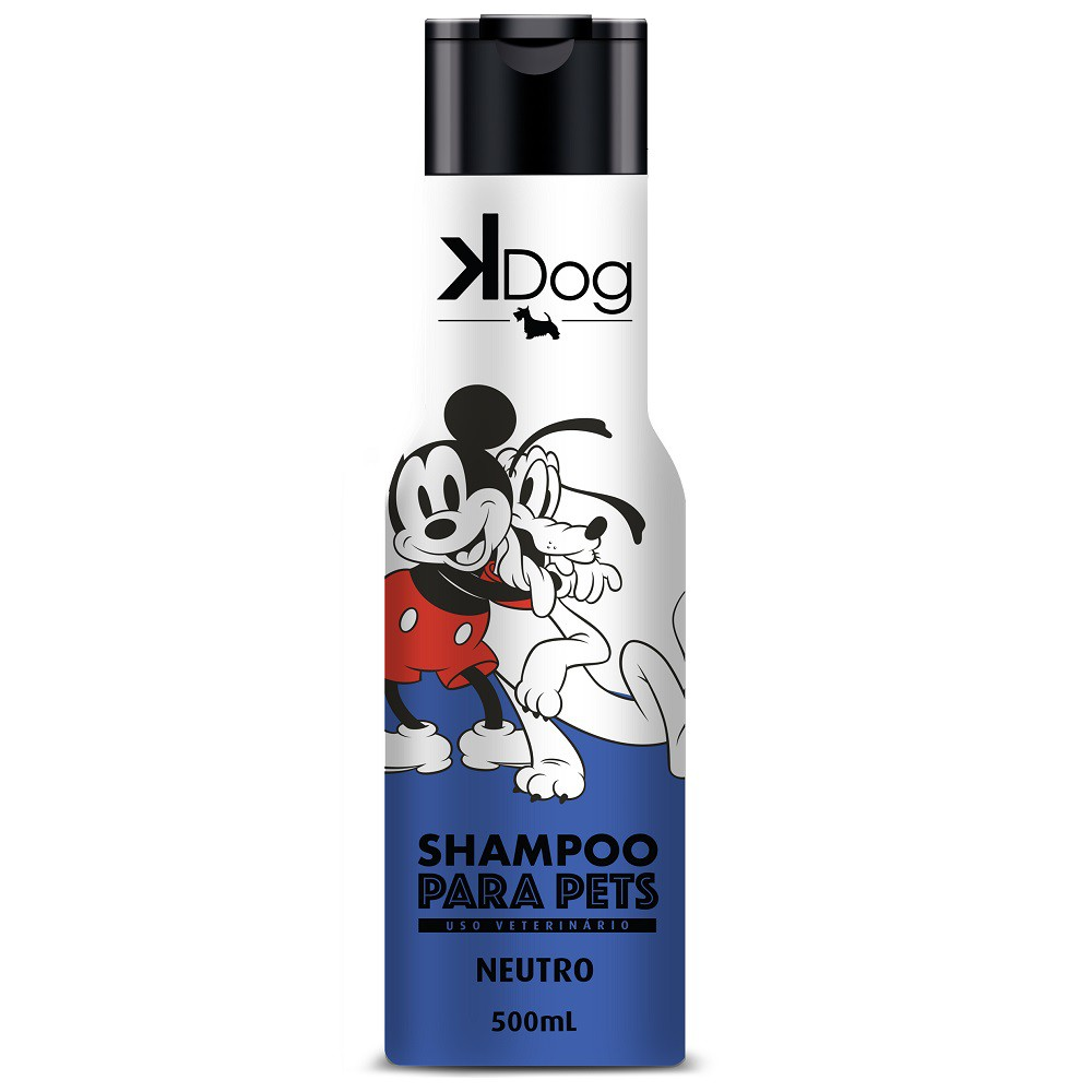 Shampoo Neutro K Dog Mickey e Amigos para Cães e Gatos - Total Química (500 ml)