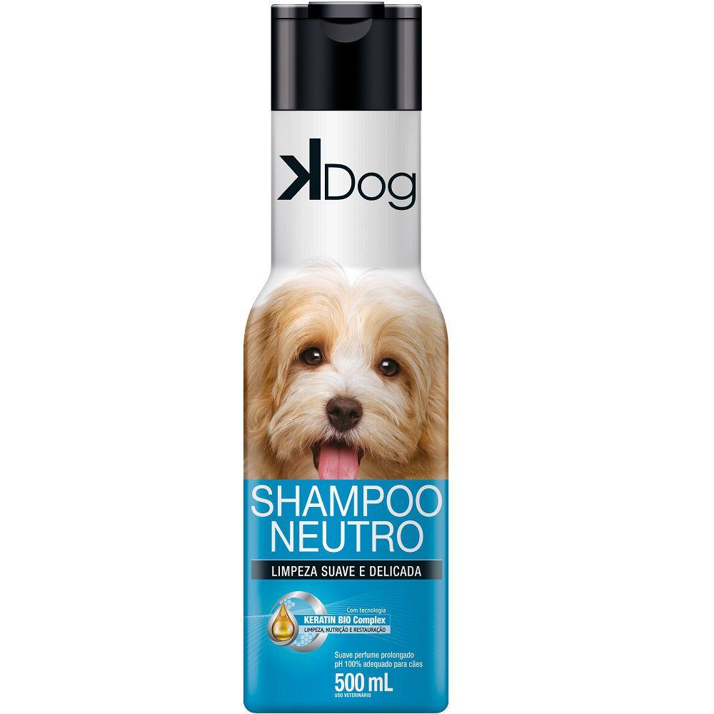 Shampoo Neutro K Dog para Cães - Limpeza Suave e Delicada (500ml) - Total Química