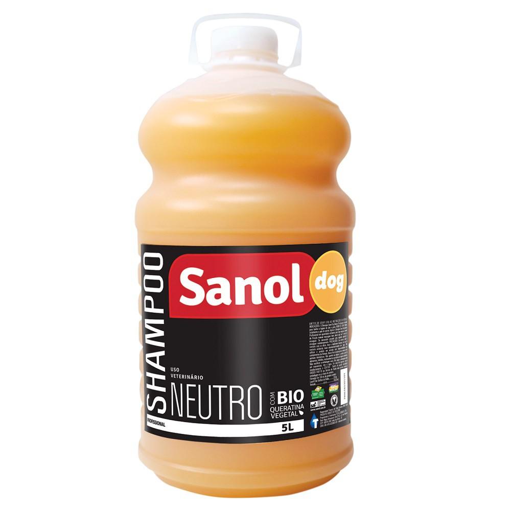 Shampoo Neutro Sanol Dog para Cães e Gatos (5 litros) - Total Química