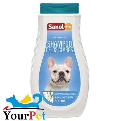 Shampoo Pelos Claros Sanol Dog para Cães e Gatos - Sanol (500 ml)