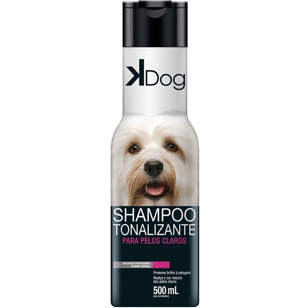 Shampoo Tonalizante Pelos Claros K Dog para Cães e Gatos - Promove Brilho e Realça a Cor (500 ml) - Total Química