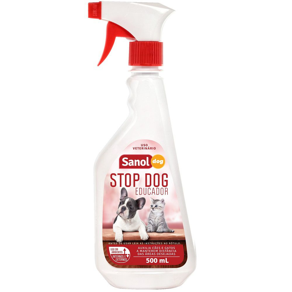 Stop Dog Educador Sanol Dog para Cães e Gatos (500 ml) - Total Química