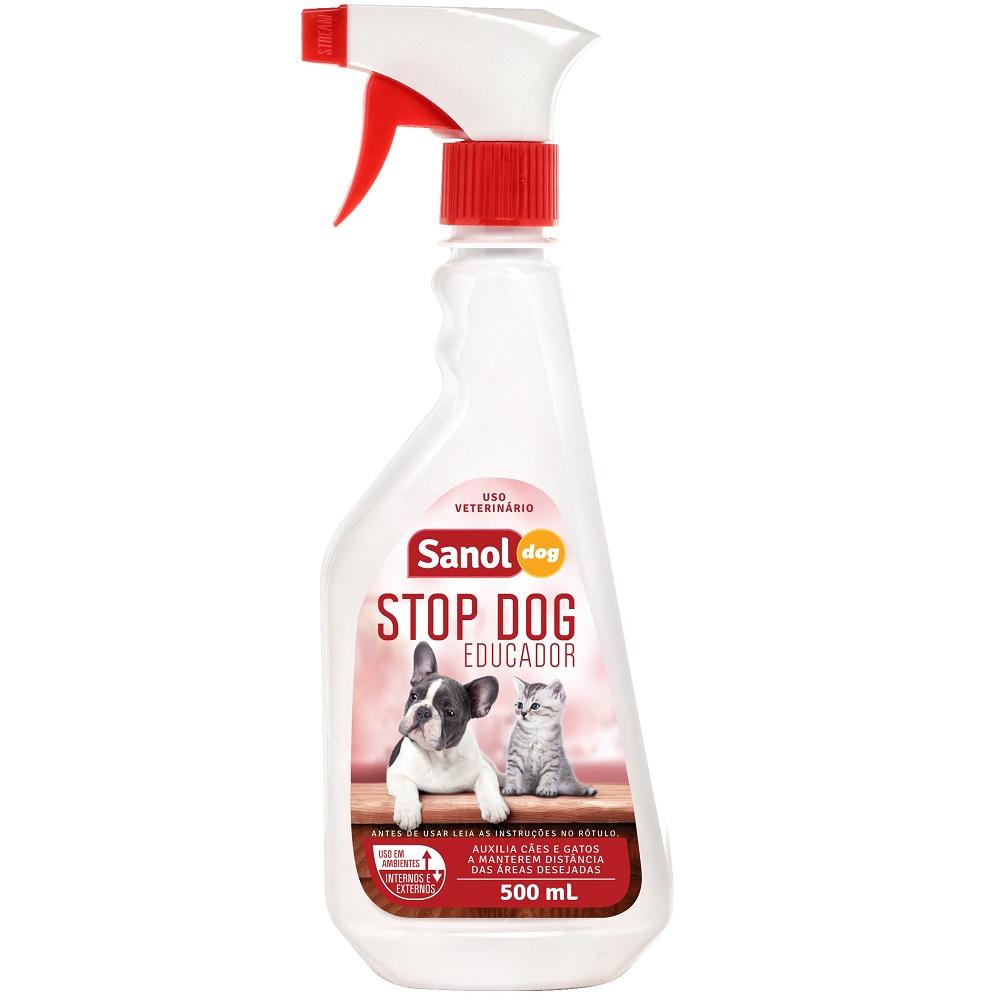 Stop Dog Educador Sanol Dog para Cães e Gatos (500 ml) - Total Química