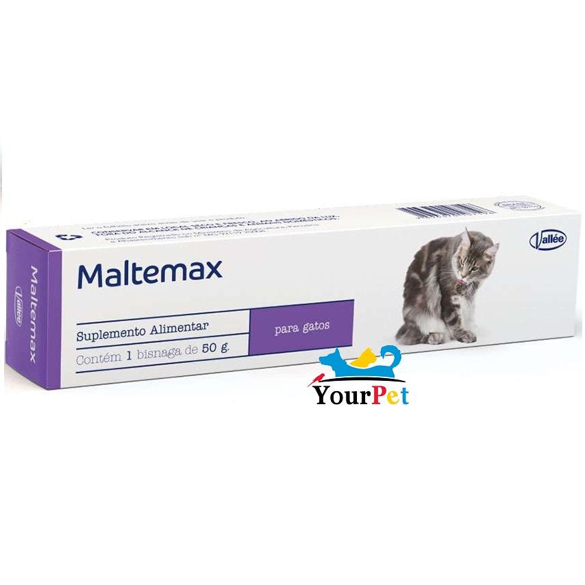 Suplemento Alimentar Maltemax para eliminação das bolas de Pelo em Gatos - Vallée (50 g)