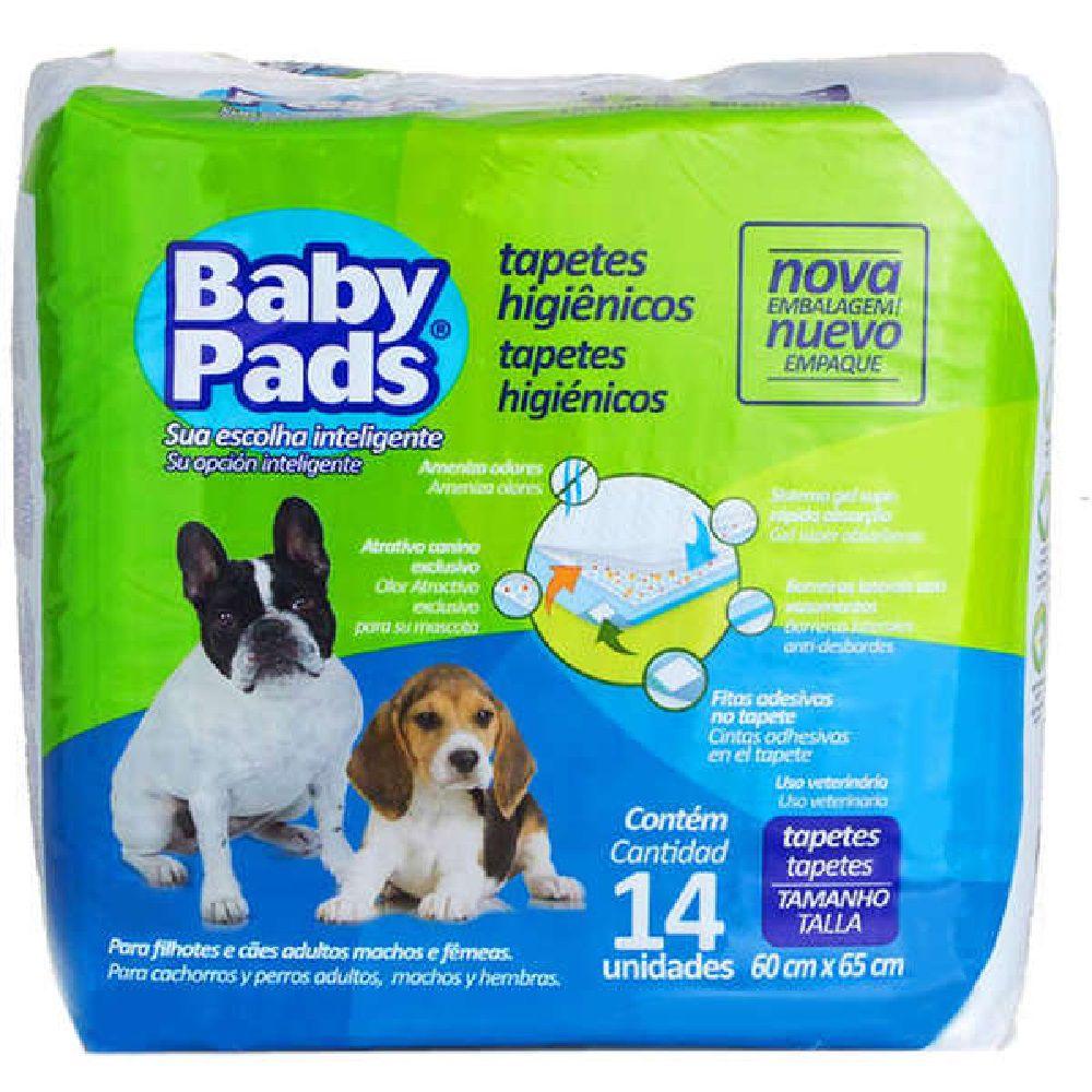Tapete Higiênico Baby Pads para Cães de todas as raças e idades 65 x 60 cm - Petix (14 unidades)